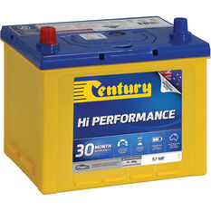 Century Hi Performance Car Battery 57 MF, , scaau_hi-res