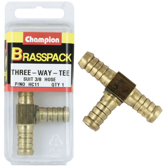 Champion Hose Joiner - 3 / 16inch, Brass, , scaau_hi-res