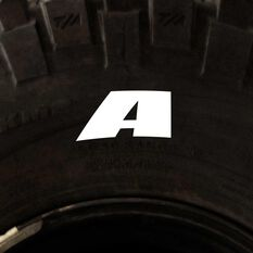 Tire Stickers - Letter A, , scaau_hi-res