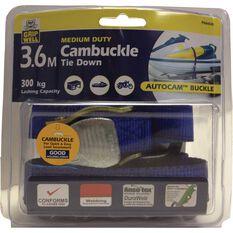 Cambuckle Tie Down - 3.6m, 300kg, , scaau_hi-res