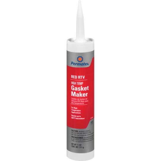 Permatex High-Temp RTV Silicone Gasket Maker - Red, 311g