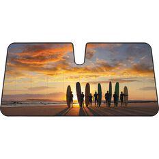 Surfboard Sunset Sunshade - Various, Accordian, Front, , scaau_hi-res