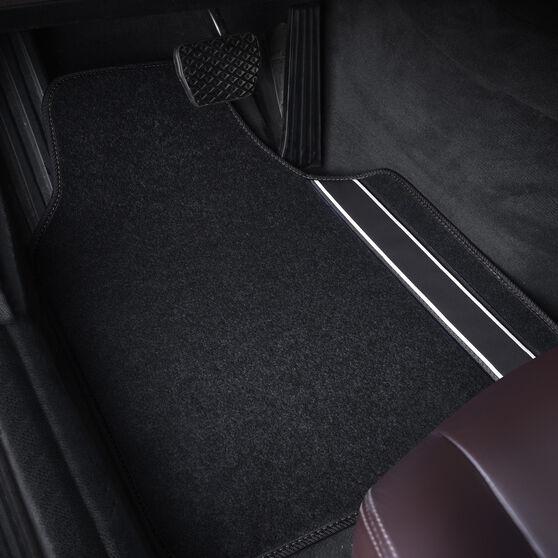 SCA Racing Car Floor Mats - Carpet, Black, Set of 4, , scaau_hi-res