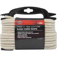 Sash Cord Rope - Cotton, 7mm x 15m, , scaau_hi-res