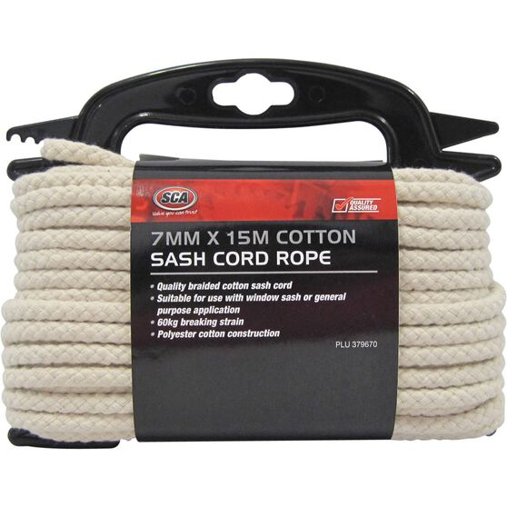 SCA Cotton Sash Cord - 7mm X 15m, , scaau_hi-res
