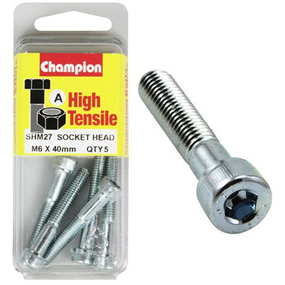 Socket Head Metric 6 X 40, , scaau_hi-res