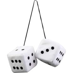 SCA Fluffy Dice - Black with White Dots or White with Black Dots, , scaau_hi-res