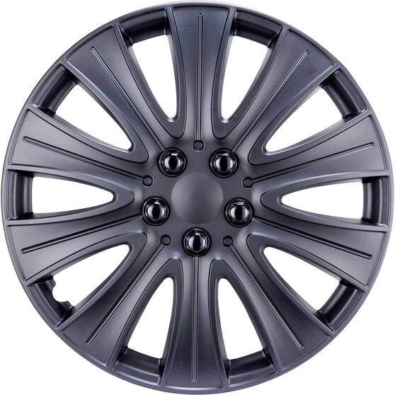 Street Series Wheel Covers - Stealth 14in, Matte Black, 4 Pack, , scaau_hi-res