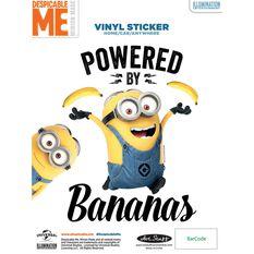 Hot Stuff Sticker - Minion Bananas, Vinyl, , scaau_hi-res