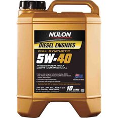 Nulon Full Synthetic Diesel Engine Oil 5W-40 10 Litre, , scaau_hi-res