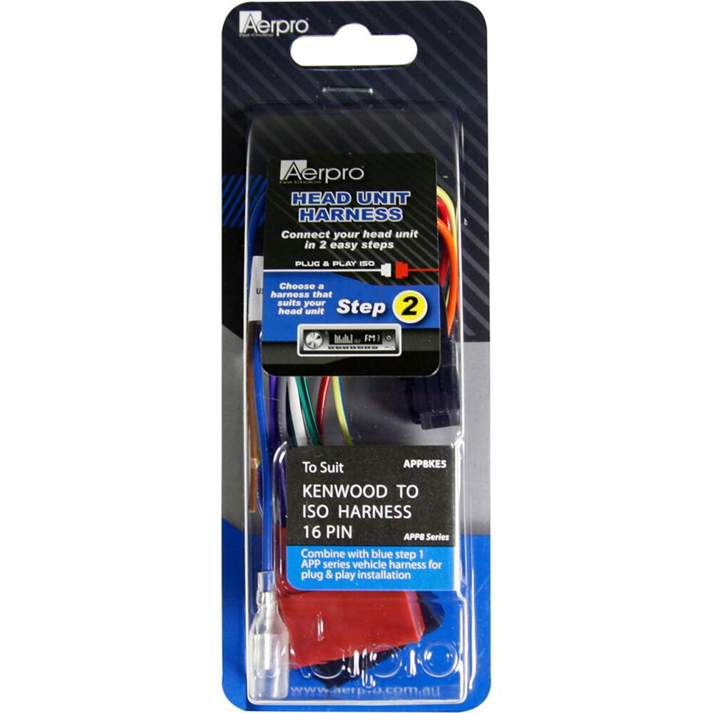 Aerpro Wiring Harness Suit Kenwood Head Unitsapp8ke5 Supercheap Automotive Pins Scaau Hi Res