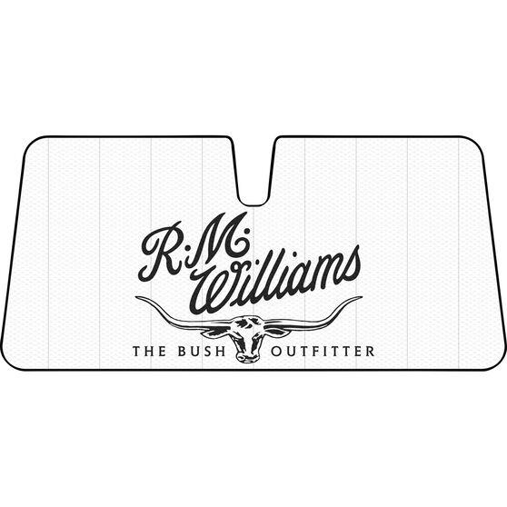 R.M. Williams Logo Sunshade - Cream, Accordion, Front, , scaau_hi-res