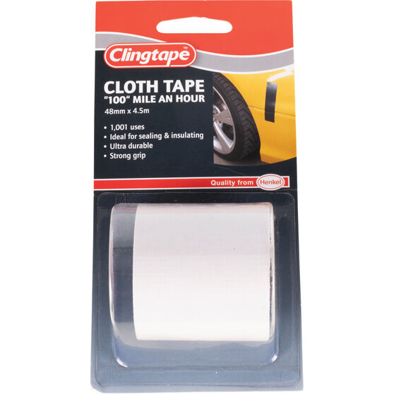 Clingtape Cloth Tape - White, 48mm x 4.5m, , scaau_hi-res