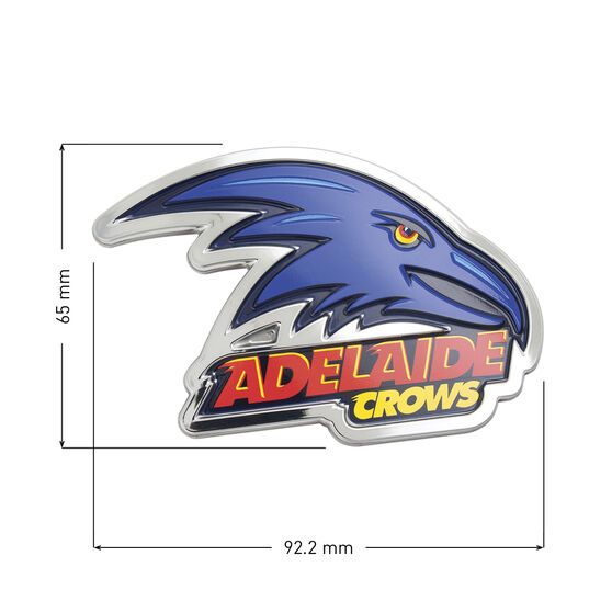 Adelaide Crows AFL Supporter Logo - 3D Chrome Finish, , scaau_hi-res
