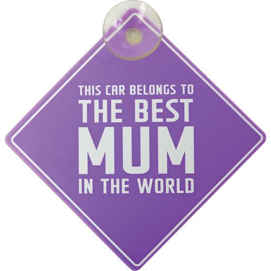 Best Mum in the World Car Sign, , scaau_hi-res