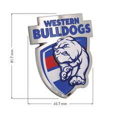 Western Bulldogs AFL Supporter Logo - 3D Chrome Finish, , scaau_hi-res