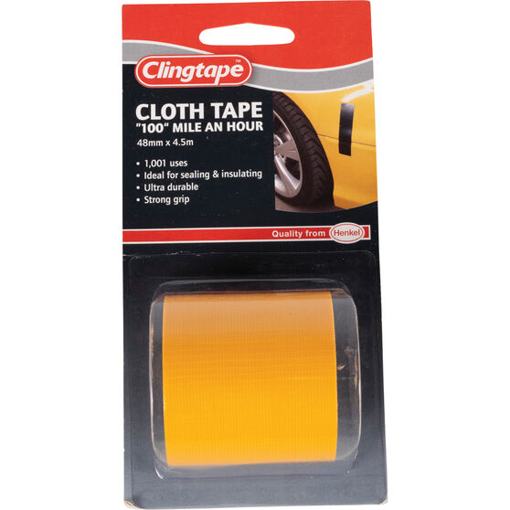 Clingtape Cloth Tape - Yellow, 48mm x 4.5m, , scaau_hi-res