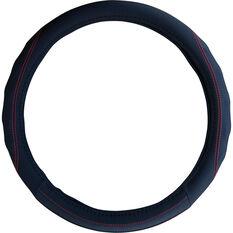 SCA Steering Wheel Cover - PU Racing, Black/Red, 380mm diameter, , scaau_hi-res