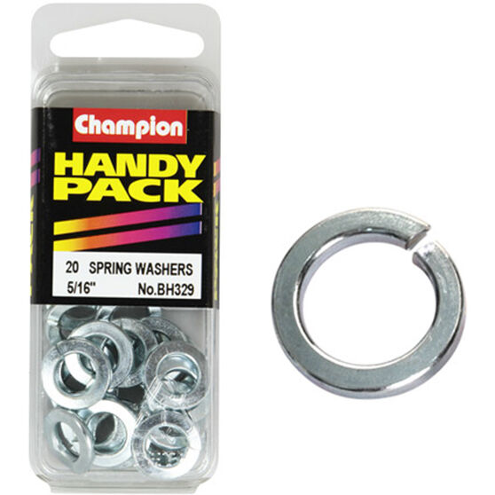Champion Spring Washers - 5 / 16inch, BH329, Handy Pack, , scaau_hi-res