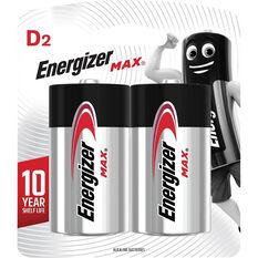 Energizer Max D Batteries - 2 Pack, , scaau_hi-res