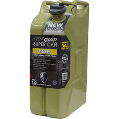 Pro Quip Supercan Metal Diesel Jerry Can 20 Litre, , scaau_hi-res
