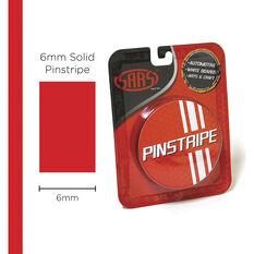SAAS Pinstripe Solid Red 6mm x 10m, , scaau_hi-res