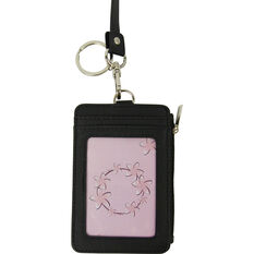 Lanyard - Double Sided, Card Colder, Zip Purse, Black, , scaau_hi-res