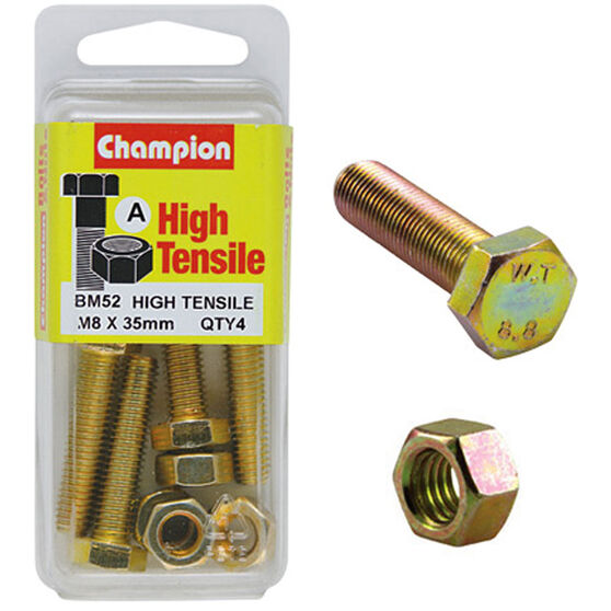 Champion High Tensile Bolts and Nuts - M8 X 35, , scaau_hi-res