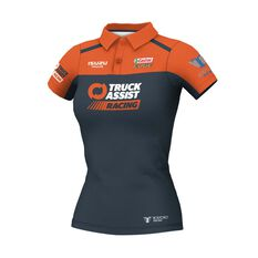 Truck Assist Racing Team Women's 2020 Team Polo, Charcoal, scaau_hi-res