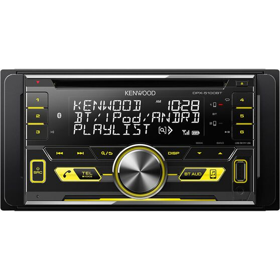 Kenwood CD Player with Bluetooth and USB  - Double DIN - DPX-5100BT, , scaau_hi-res