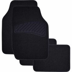SCA Loop Pile Floor Mats - Carpet, Black, Set of 4, , scaau_hi-res