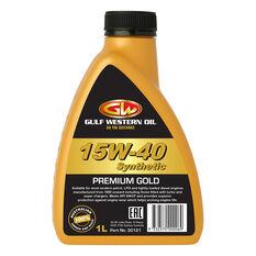 Gulf Western Premium Gold Engine Oil 15W-40 1 Litre, , scaau_hi-res