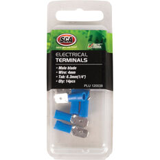SCA Electrical Terminals - Male Blade, Blue, 6.3mm, 14 Pack, , scaau_hi-res