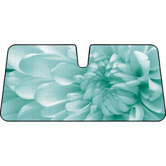 Flower Sunshade - Aqua, Accordion, Front, , scaau_hi-res