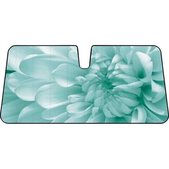 Flower Sunshade - Aqua, Accordion, Front, , scaau_hi-res