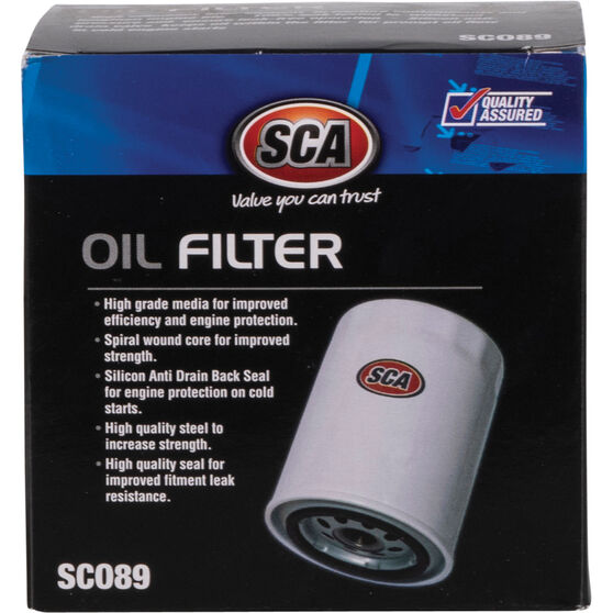SCA Oil Filter SCO89 (Interchangeable with Z89A), , scaau_hi-res