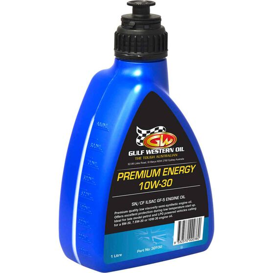 Gulf Western Premium Energy SN Engine Oil - 10W-30 1 Litre, , scaau_hi-res