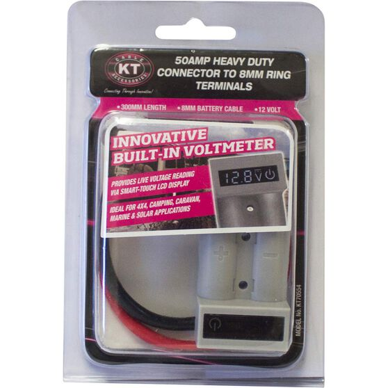 KT Cable Connector - 50AMP, Voltmeter, Ring Terminals, , scaau_hi-res