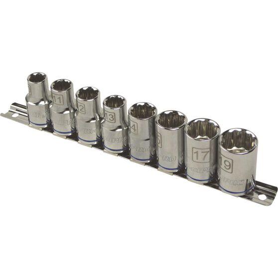 ToolPRO Socket Rail Set - 1 / 2 inch Drive, Metric, 8 Piece, , scaau_hi-res