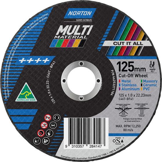 Norton Multi-Purpose Cutting Wheel 125mm, , scaau_hi-res