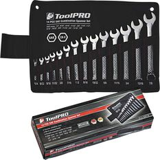 ToolPRO Spanner Set - Combination, 14 Piece, Imperial, , scaau_hi-res