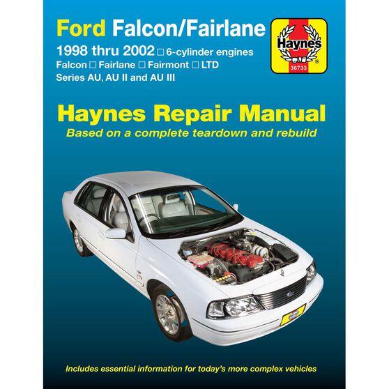 Haynes Car Manual For Ford Falcon / Fairlane 1998-2002 - 36733, , scaau_hi-res