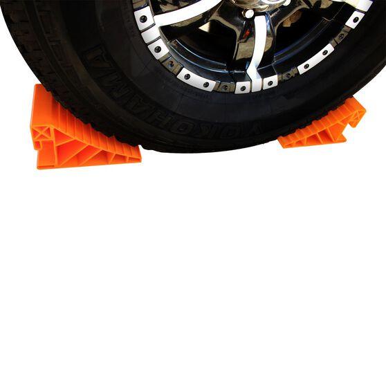 Explore Caravan Wheel Chock - Orange, Pair, , scaau_hi-res