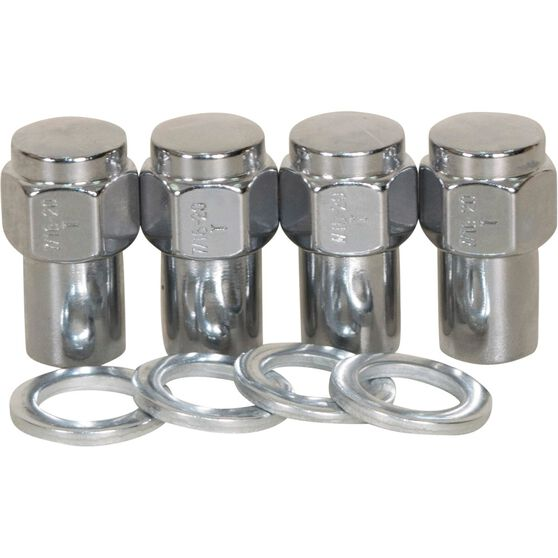 Calibre Wheel Nuts, Shank, Chrome - MN716, 7 / 16inch, , scaau_hi-res