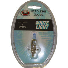 SCA White Light Performance Globes - 12V, 55W, H1, , scaau_hi-res