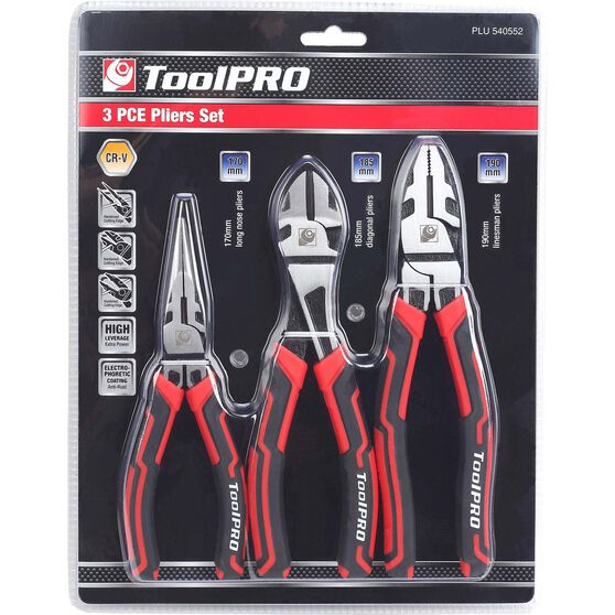 ToolPRO Plier Set - 3 Pieces, , scaau_hi-res
