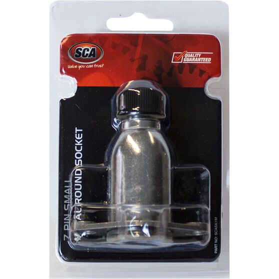 SCA Trailer Socket, Metal -  Small Round, 7 Pin, , scaau_hi-res