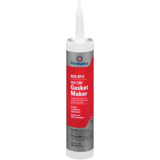 Permatex High-Temp RTV Silicone Gasket Maker - Red, 311g, , scaau_hi-res