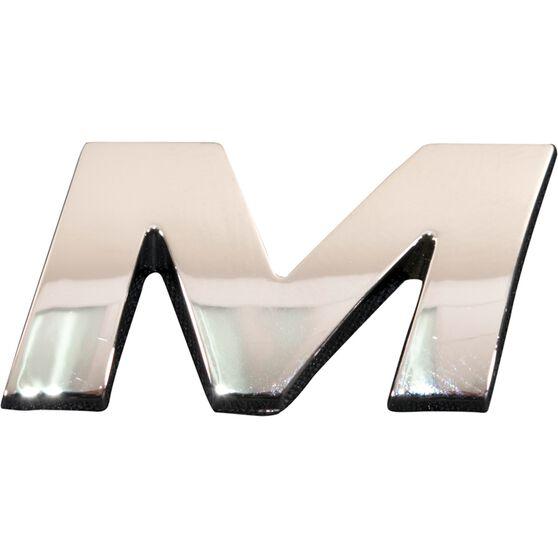 SCA 3D Chrome Badge Letter M, , scaau_hi-res
