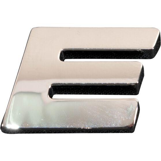 SCA 3D Chrome Badge Letter E, , scaau_hi-res